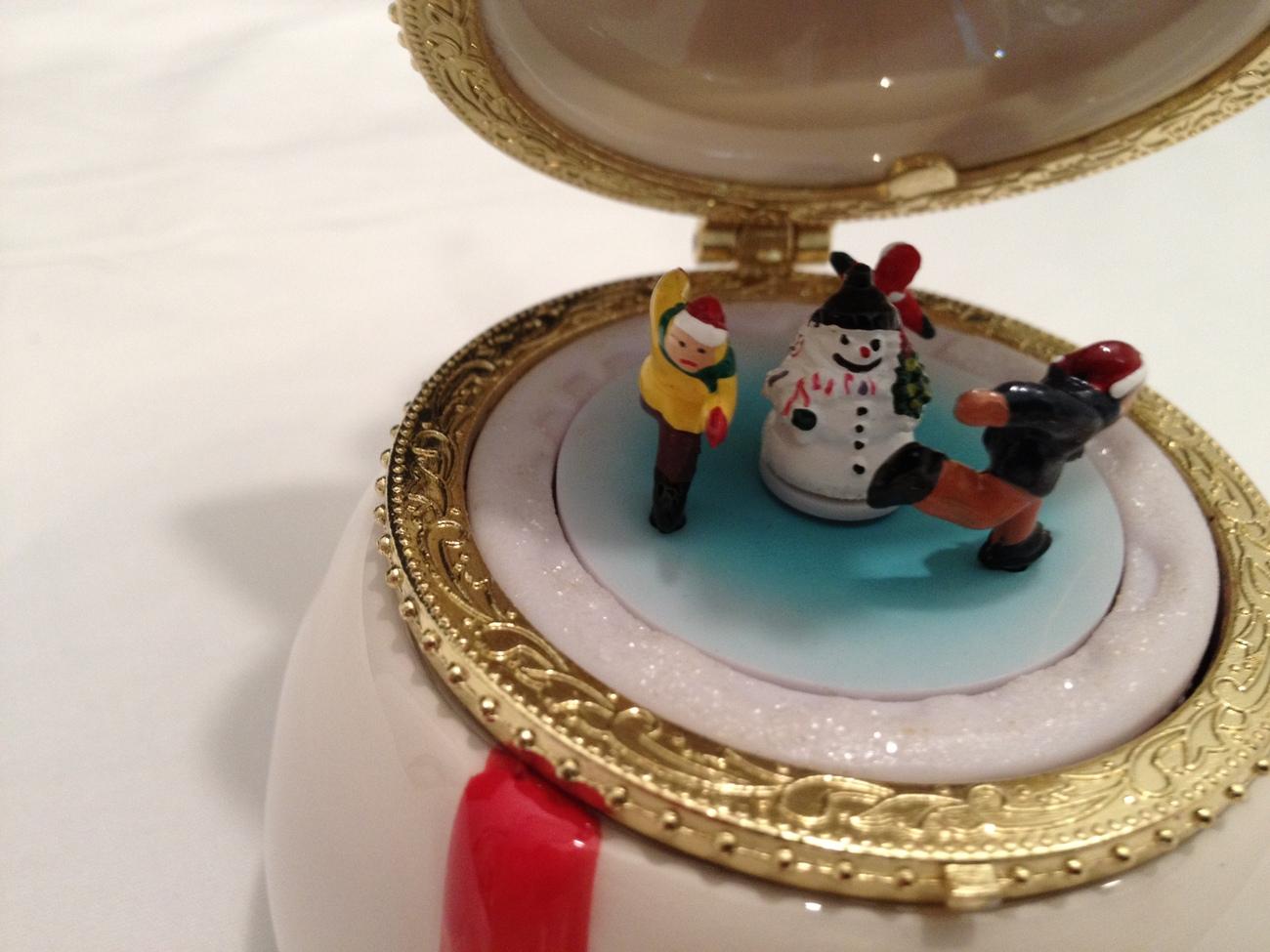 Mr. Christmas Porcelain Music Box Ornament - Snowman ...