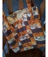 Handmade Fall Colored Brown Orange Handbag Shou... - $45.00