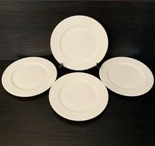 "Mikasa Trellis Lattice Rim Bone China Appetizer Plates 6 5/8"" White Set ... - $29.70"