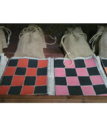 Checkerboard Set Game Toy Handmade Corn Cob Cou... - $19.97