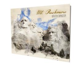 Mount Rushmore South Dakota Water Color Design 16x20 Aluminum Wall Art - $59.35