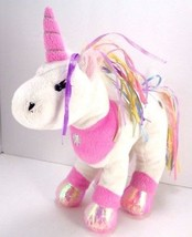 Unicorn Rainbow Ribbons Flower Princess Plush TOY Stuffed Animal NO Code... - $7.91