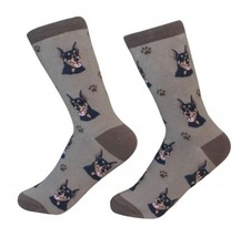 Doberman Pinscher  Socks Unisex Dog Cotton/Poly One size fits most - $11.99