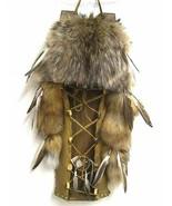 "Native American Indian COYOTE FUR 24"" CRADLEBOARD CRADLE BOARD, Handmade... - $399.00"