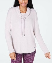 Calvin Klein Performance Women Cowl-Neck Top Evening Sand Size L NEW with tag - $32.99