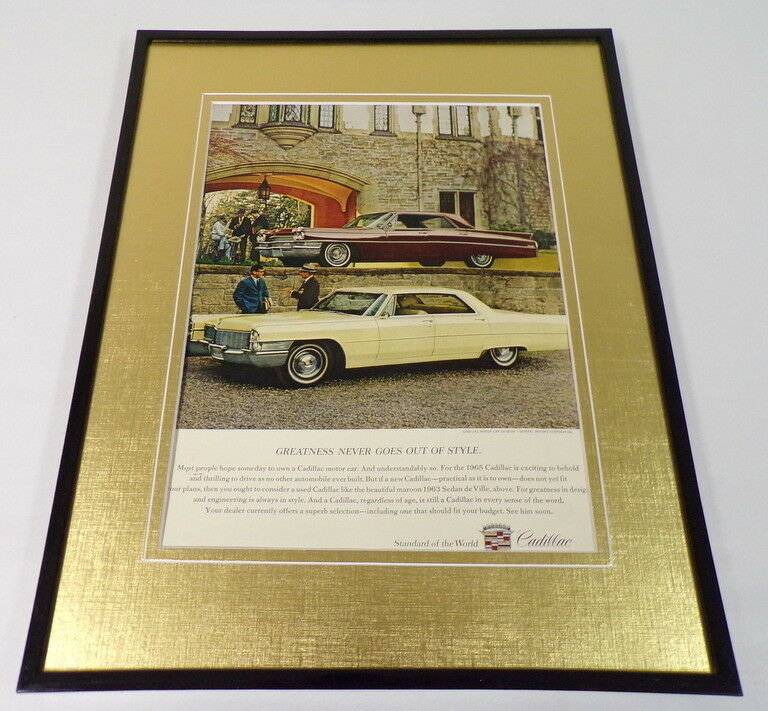 Primary image for 1965 Cadillac 11x14 Framed ORIGINAL Advertisement