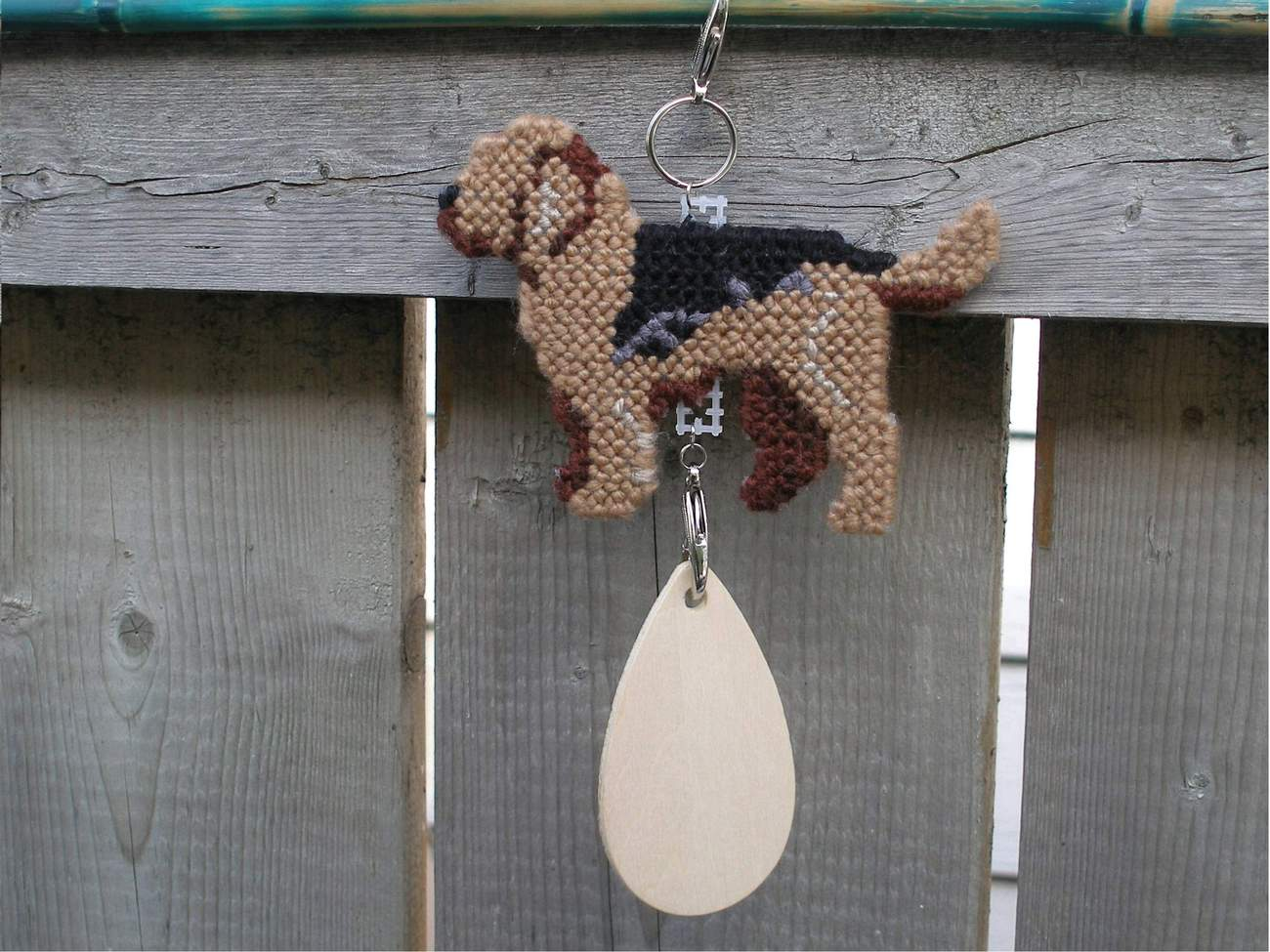 Otterhound crate tag or hang anywhere, hound dog art, handmade kennel accessory