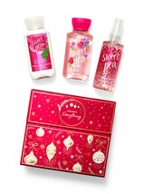 3 PCS BATH & BODY WORKS MERRY EVERYTHING SWEET PEA MINIS GEL SPRAY GIFT ... - $25.99
