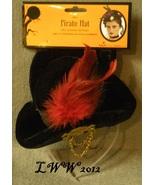 Black Halloween Mini Pirate Hat with Headband Adult Women's Steampunk Go... - $4.97