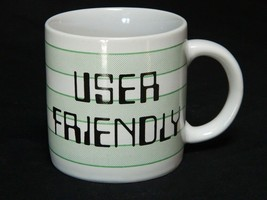 Vintage User Friendly Coffee Mug Cup Computer Wet Ware Gamer 1984 - $29.65