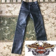 Harley Davidson Authentic Cowhide Leather Cut off Pants 98146 Size 28 Used - $211.99