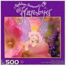Kathleen Francour Flitterbyes 500 Piece Puzzle - Happy Hollyhocks (NEW) - $24.95