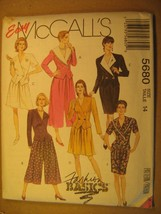 Uncut Sewing Pattern 1992 Mc Call's Size 14 Top Split-Skirt Skirt 5680 [Z180] - $3.99