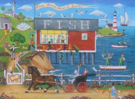 PUZZLE..JIGSAW..HOLODOOK...Today's Catch Fish Market...300 Piece.. Sealed - $14.99