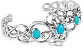 Carolyn Pollack Sterling Silver Sleeping Beauty Turquoise Gemstone 3-Sto... - $576.92