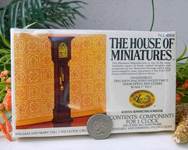 Vintage william mary tall case clock house of miniatures thumb200