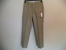 Men's Khaki Dickies Pants. 34 X 32. 65% Polyester/ 35% Cotton. Orinal Fit. - $23.76