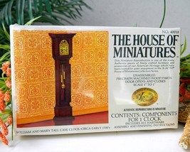 Vintage william mary tall case clock doll house miniatures 1977 thumb200