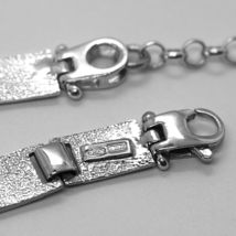 Bracelet Silver 925, Flags Nautical Glazed Tiles, Long 18 cm, Thickness 6 MM image 4