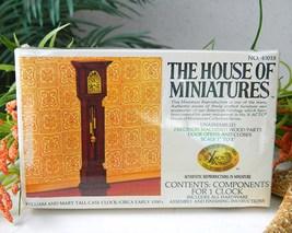 Vintage doll house miniature clock william mary tall case thumb200