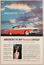 1955 Print Ad The 1956 Chrysler New Yorker 2-Door Firepower V-8 Engine - $11.56