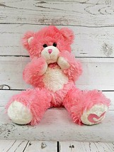 "Build A Bear - Stuffed Animal Plush Pink heart - 16"" Teddy Heart Fantast... - $11.35"
