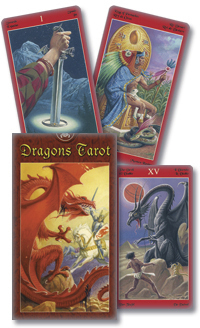 Primary image for Dragons Tarot Deck Cards Wiccan Pagan New Sealed Rare OOP