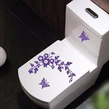 Funny Novelty Butterfly & Flower Toilet Seat/Sticker/Decal Fashion Wall ... - $12.99