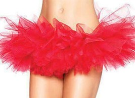 NEW LEG AVENUE WOMEN'S SEXY TUTU BALLET DANCE SKIRT A7105 ONE SIZE RED image 1