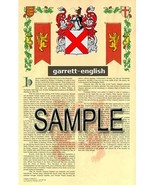 Garrett Coat of Arms (Armorial Name History) Family Crest 11x17 Print Sc... - $18.99