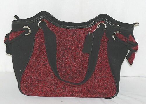 Howards Brand Arianna Collection 67865 Red And Black Tweed Side Panels Purse