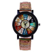 Fshion Women Watch Color Dial Retro Quartz Watch - £8.13 GBP