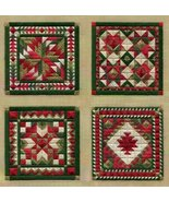 Holiday Ornaments 2 counted canvaswork needlepo... - $11.70