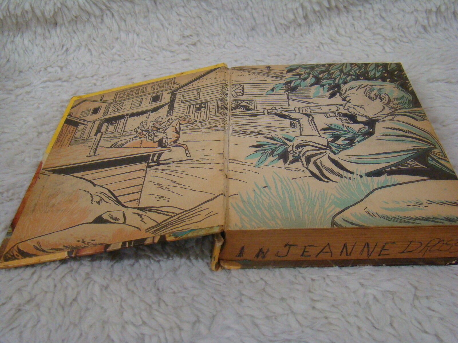 Annie Oakley in the Ghost Town Secret Hardback Book - Copyright 1957 - Whitman