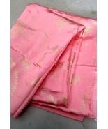 Fabric cloth piece for craft dress decor suit kurti 2 yard golden emboss... - $27.27