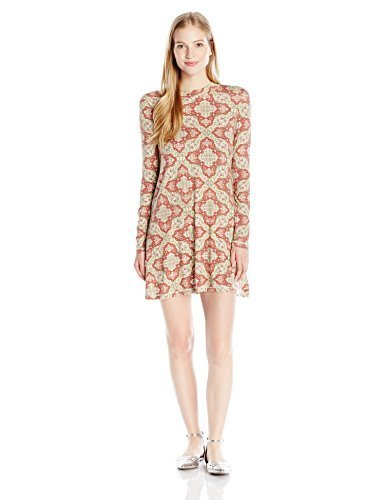 O'Neill Junior's Leona Long Sleeve Mock Neck Dress, Multi Clr/Mul, XL