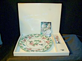 Porcelain National Wildlife Federation Hummingbird Platter & Server Andrea by Sa image 3