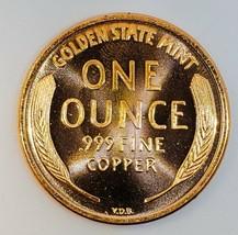 1909 S V.D.B   UNC  LINCOLN WHEAT CENT 1 OZ COPPER  # 205 image 2