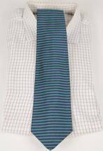 'Brooks Brothers Green/ Purple Horizontal Stripe Silk Tie' - $35.00