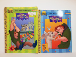 DISNEY HUNCHBACK of NOTRE DAME Coloring + Paint With Water 2 Books Vtg E... - $12.99