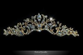 Dita Floral Filigree Gold Tiara | Swarovski Crystal - $62.95