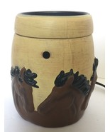 Scentsy Western Cowboy Stampede Horses Candle Wax Warmer - TESTED and WORKS - $129.99