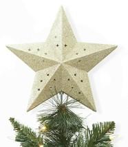Wondershop Easy Clip Lit Star Ceiling Illuminating Christmas Tree Topper Gold image 2