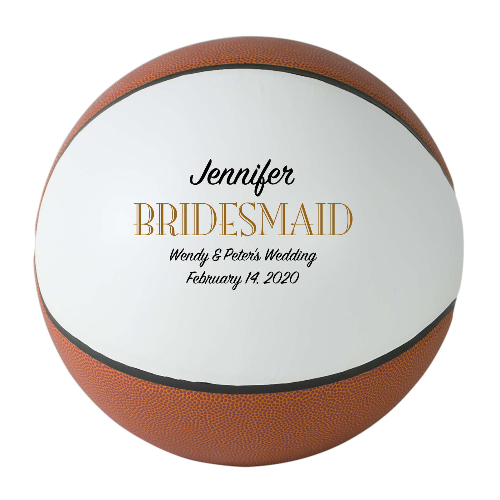 Primary image for Bridesmaid Regulation Basketball Wedding Gift - Personalized Wedding Favor