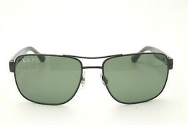 Ray Ban RB 3530 Sunglasses 002/9A Black Aviator Green Polarized Lenses 58mm - $90.65