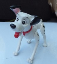 Vintage Disney 101 Dalmatians Pongo PVC Dog Red Collar Figure 3 Inch Joi... - $9.69