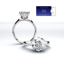 2.00 Carat Moissanite Forever One Solitaire Ring 14K Gold (Charles & Col... - $1,499.00