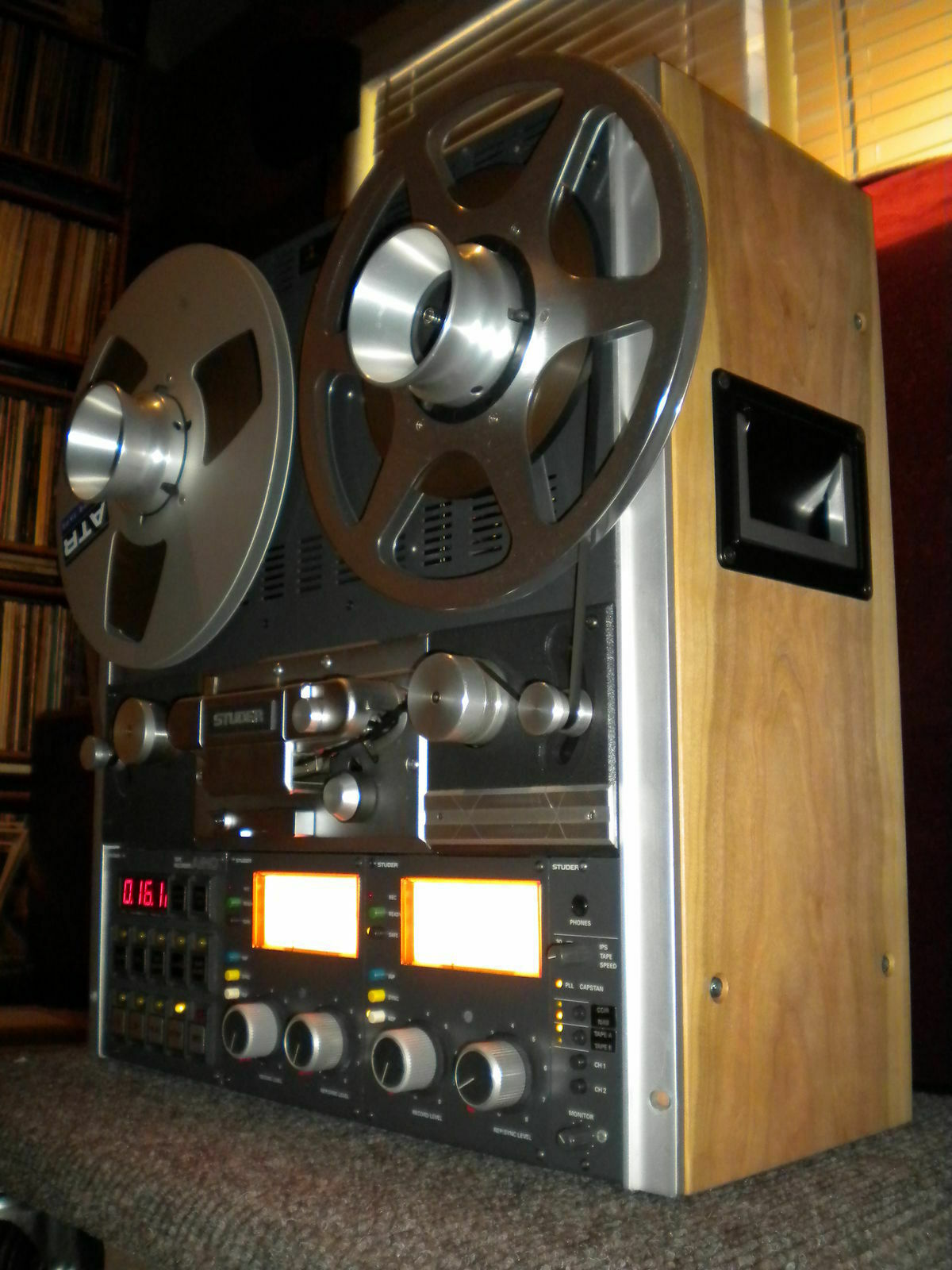NEW CUSTOM Veneer Wood Side Panels Reel Recorder Studer Technics Otari + Handles