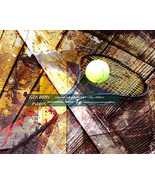 Tennis Artwork, Sports Room Decor, Modern Art Print, Living Room Wall Ar... - $15.88+