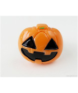 Oversized Pumpkin Ring, Adjustable, Silver Tone - Halloween, Jack O Lantern - $9.00
